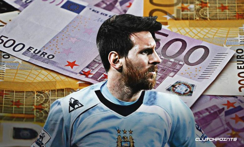 Messi in a City Jersery