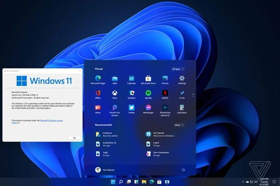 Absolutely, Windows 11 has leak reveals new UI, Start menu, and further.