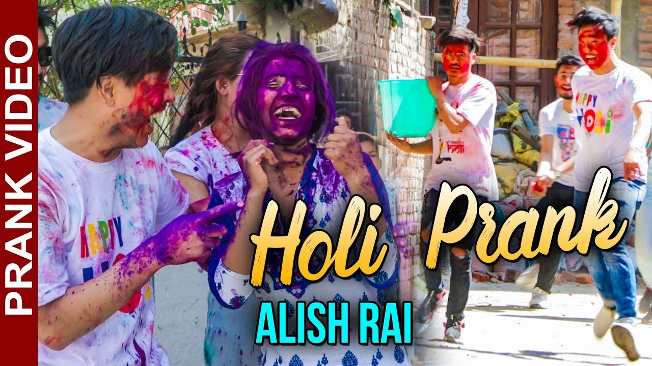Photo of Alish Rai | HOLI PRANK | Try Not to Laugh | Funny Comedy Nepali Prank Video