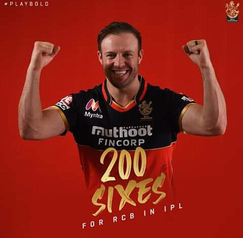Photo of ABD completes 200 Sixes for RCB, RCB won the game by 10 runs