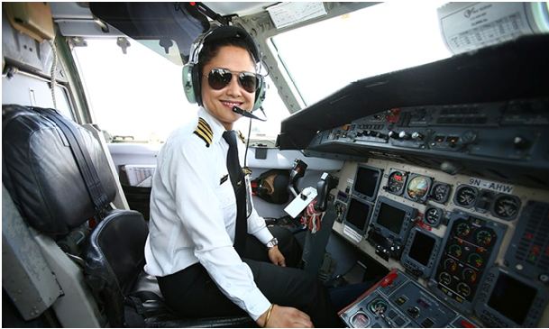 Photo of Sabina Shrestha- The First Female Pilot Instructor Of Nepal
